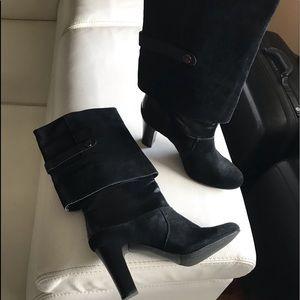 TAHARI BOOTS Harper Leather&Suede s9M